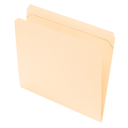 Office Depot® Brand Reinforced Tab File Folders, Straight Cut, Letter Size, Manila, Pack Of 100