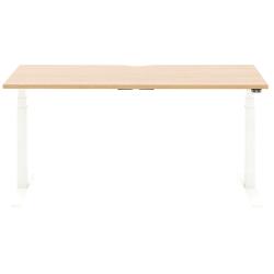 "Allermuir Slide Electric Height-Adjustable Standing Desk, 29""H x 60""W x 24""D, Oak/White"