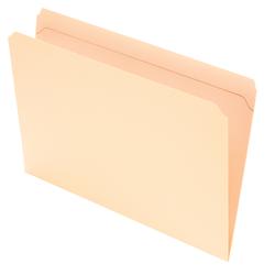 Office Depot® Brand Reinforced Tab File Folders, Straight Cut, Legal Size, Manila, Pack Of 100 Folders
