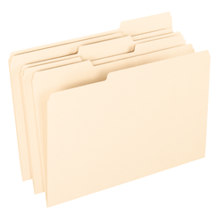 Office Depot® Brand File Folders, 1/3 Tab Cut, Assorted Position, Legal Size, Manila, Pack Of 100