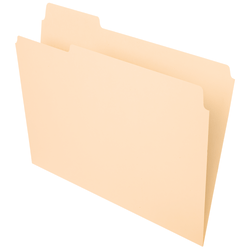 Office Depot® Brand File Folders, 1/3 Tab Cut, Left Position, Letter Size, Manila, Pack Of 100
