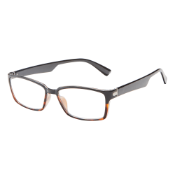 ICU Eyewear Rectangular Reading Glasses, Black, +1.25