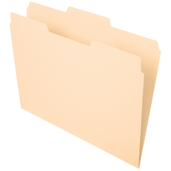 Office Depot® Brand File Folders, 1/3 Cut, Center Position, Letter Size, Manila, Pack Of 100