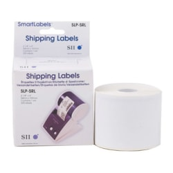 "Seiko SmartLabel SLP-SRL Shipping Labels, SKPSLPSRL, Permanent Adhesive, 2 1/8""W x 4""L, Rectangle, Direct Thermal, White, Paper, 220 Per Roll"