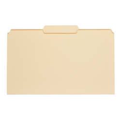 Office Depot® Brand File Folders, 1/3 Tab Cut, Center Position, Legal Size, Manila, Pack Of 100