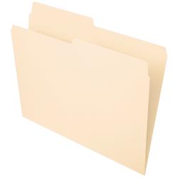 Office Depot® Brand File Folders, 1/2 Cut, Letter Size, Manila, Pack Of 100