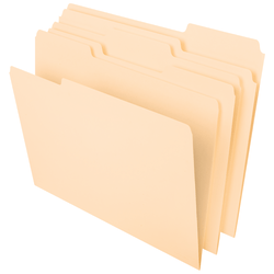 Office Depot® File Folders, 1/3 Tab Cut, Assorted Position, Letter Size, Manila, Pack Of 100 Folders