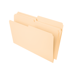 Office Depot® Brand File Folders, 1/2 Tab Cut, Second Position, Legal Size, Manila, Pack Of 100