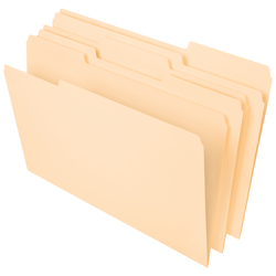 Office Depot® Brand File Folders, 1/3 Tab Cut, Legal Size, Manila, Pack Of 100 Folders