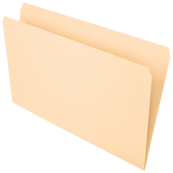 Office Depot® Brand File Folders, Straight Cut, Legal Size, Manila, Pack Of 100