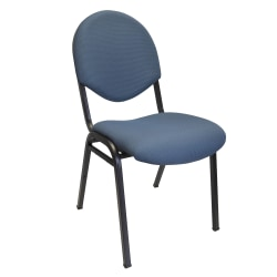 """Office-Stor PLUS Banquet Padded Fabric Seat, Fabric Back Stacking Chair, 16"""" Seat Width, Blue Seat/Blue Frame, Quantity: 1"""