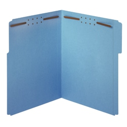 Office Depot® Brand Color Fastener File Folders, Letter Size, Blue, Pack Of 50 Folders