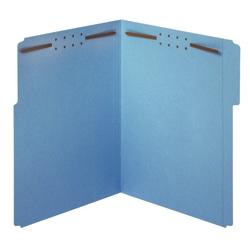 Office Depot® Brand Color Fastener File Folders, Letter Size, Blue, Pack Of 50 Folders