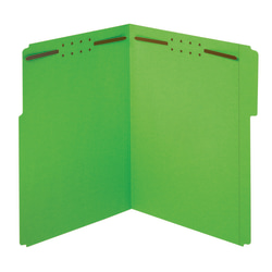 """Office Depot® Brand Color Fastener File Folders, Letter Size (8-1/2"""" x 11""""), 2"""" Expansion, Green, Box Of 50"""
