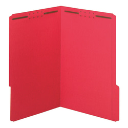 """Office Depot® Brand Color Fastener File Folders, 8 1/2"""" x 14"""", Legal, Red, Box of 50"""