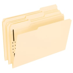 Office Depot® Brand Manila Fastener Folders, 1 Fastener, 1/3 Tab, Legal Size, Box of 50 Folders