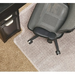 """Realspace™ DuraMat Chair Mat For Low-Pile Carpet, Studded, 36""""W x 48""""D, Clear"""