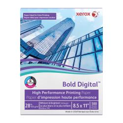 "Xerox® Bold Digital™ Printing Paper, Letter Size (8 1/2"" x 11""), 100 (U.S.) Brightness, 28 Lb, FSC® Certified, Ream Of 500 sheets"