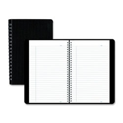 "Blueline® Duraflex Notebook, 9 1/2"" x 6"", College Ruled, 320 Pages (160 Sheets), 50% Recycled, Black/White"