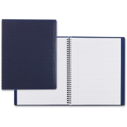 """Blueline® Duraflex Notebook, 8 1/2"""" x 11"""", College Ruled, 160 Sheets, 30% Recycled, Blue"""