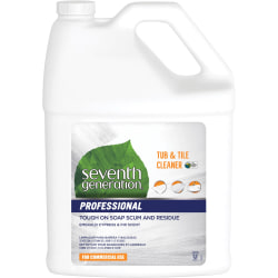 Seventh Generation Professional Tub & Tile Cleaner - Liquid - 128 fl oz (4 quart) - Emerald Cypress & Fir Scent - 1 Each - Multi