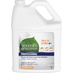 Seventh Generation Professional Tub & Tile Cleaner - Liquid - 128 fl oz (4 quart) - Emerald Cypress & Fir Scent - 1 Each - Multi