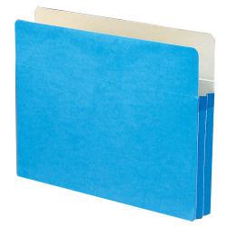 "Smead® Color File Pockets, Letter Size, 1 3/4"" Expansion, 9 1/2"" x 11 3/4"", Blue"