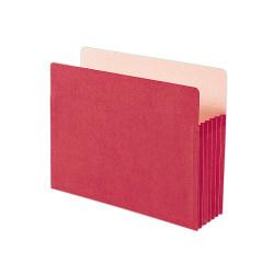 "Smead® Color File Pockets, Letter Size, 5 1/4"" Expansion, 9 1/2"" x 11 3/4"", Red"