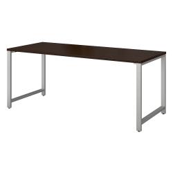 "Bush Business Furniture 400 Series Table Desks, 72""W x 30""D, Mocha Cherry, Standard Delivery"
