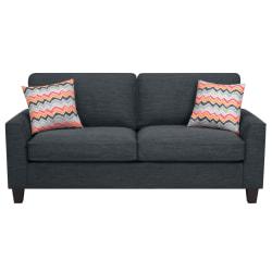 "Serta® Astoria Deep-Seating Sofa, 78"", Charcoal/Espresso"