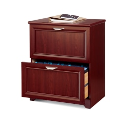 """Realspace® Magellan 24""""W 2-Drawer Lateral File Cabinet, Classic Cherry"""