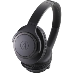 Audio-Technica Wireless Over-Ear Headphones - Stereo - Wireless - Bluetooth - 32.8 ft - 32 Ohm - 5 Hz - 35 kHz - Over-the-head - Binaural - Circumaural - Omni-directional Microphone - Noise Canceling - Charcoal Black