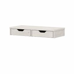 Bush Furniture Yorktown Desktop Organizer With Drawers, Linen White Oak, Standard Delivery