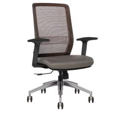 Sinfonia Sing Ergonomic Mesh Mid-Back Task Chair, Copper/Gray