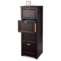 "Realspace® Magellan 19""D 4-Drawer Vertical File Cabinet, Espresso"