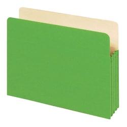 "Office Depot® Brand Color File Pockets, 3 1/2"" Expansion, 8 1/2"" x 11"", Letter Size, Green"
