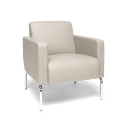 OFM Triumph Series Lounge Chair, Cream/Chrome