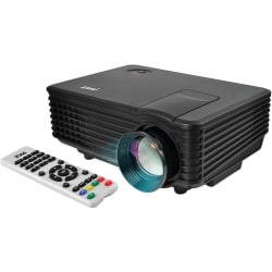 Pyle PRJG88 LCD Projector - 800 x 480 - Front - 480p - 30000 Hour Normal ModeWVGA - 1,000:1 - 800 lm - HDMI - USB - 1 Year Warranty