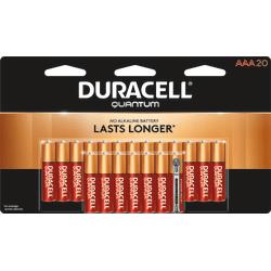 Duracell® Quantum AAA Alkaline Batteries, Pack Of 20