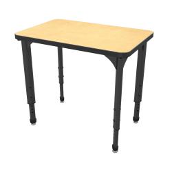Marco Group Apex™ Series Adjustable Rectangle Student Desk, Fusion Maple/Black