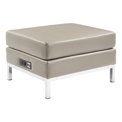 Office Star™ Avenue Six Wall Street Charging Ottoman, Smoke