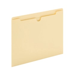 "Office Depot® Brand Manila File Jackets, Reinforced Tab, 8 1/2"" x 11"", Box of 100 File Jackets"
