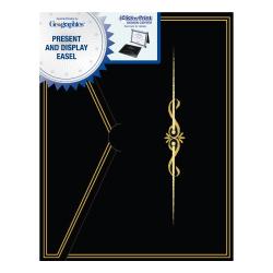 "Geographics® Certificate Presentation Easel, 8 1/2"" x 11"", Black"