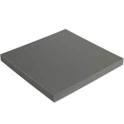 "Office Depot® Brand Soft Foam, Sheets, 2""H x 24""W x 24""D, Charcoal, Case Of 6"