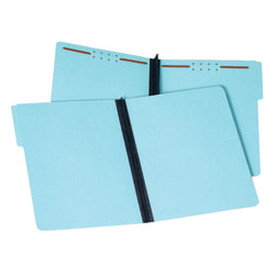 """Pendaflex® Pressboard Expanding Folders, 2"""" Expansion, 8 1/2"""" x 11"""", Letter, 100% Recycled, Blue, Box of 25"""