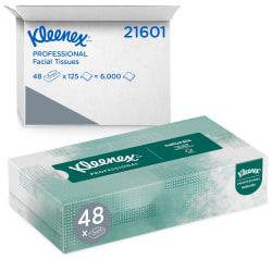 Kleenex® Naturals Facial Tissue, 125 Sheets Per Box, Case Of 48 Boxes