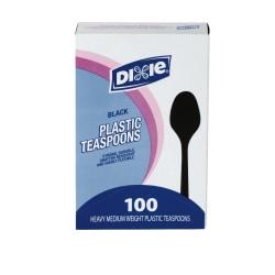 Dixie® Medium-Weight Utensils, Spoons, Black, Box Of 100