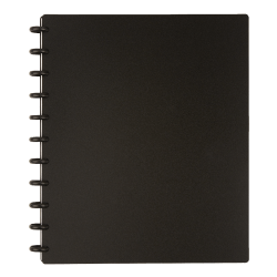 TUL® Discbound Notebook, Letter Size, Poly Cover, Black