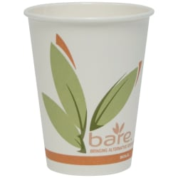 Solo® Bare™ Hot Cups, 12 Oz., Pack Of 50