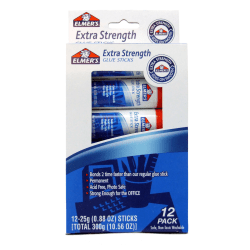 Elmer's® Extra-Strength Office Glue Sticks, 0.88 Oz., Pack Of 12